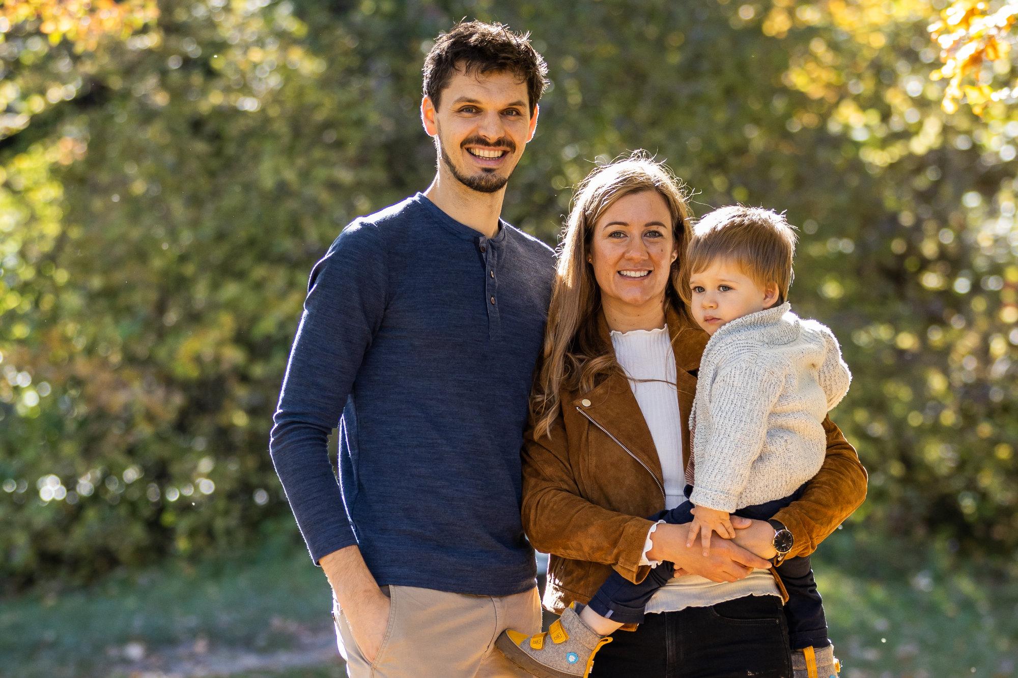 Sandra Zechner mit Familie